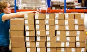 Amazon distribution centre outside Milton Keynes
