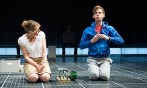 Niamh Cusack and Luke Treadaway in The Curious Incident of the Dog in the Night-Time