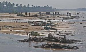 Hikkaduwa, in southern Sri Lanka, after the 2004 tsunami