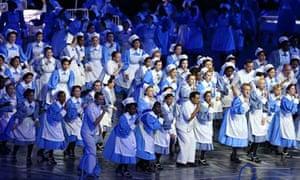 NHS nurses at London 2012 Olympics opening ceremony