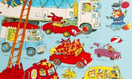 Detail from the cover of Richard Scarry's Cars and Trucks and Things That Go