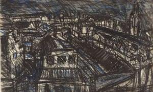 Leon Kossoff's drawing Dalston Lane No 1