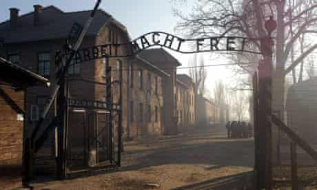 The entrance to Auschwitz concentration camp