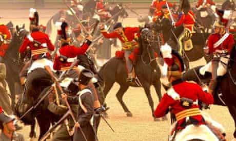 Re-enactment of the battle of waterloo