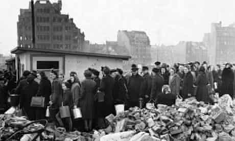 Hungry Citizens of Hamburg, Germany 1945