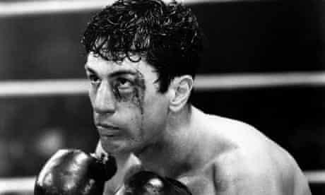 Tough glove … Robert De Niro as Jake LaMotta in Raging Bull (1980).