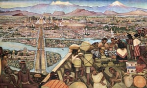Great City Of Tenochtitlan mural