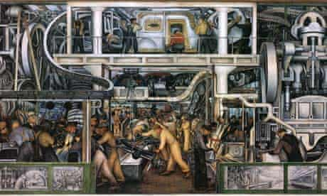 Industry fresco cycle by Diego Rivera