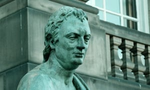 Green king … a statue of the Enlightenment philosopher David Hume on Edinburgh's High Street.