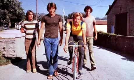 Class of their own … Breaking Away – with a young Dennis Quaid, second left.