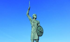 a statue of the 10th-century warrior Byrhtnoth in Maldon, Essex.