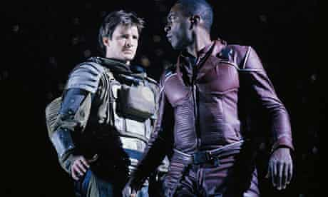 Nathan Fillion (left) and Richard Richard Brooks in the Fox TV show Firefly