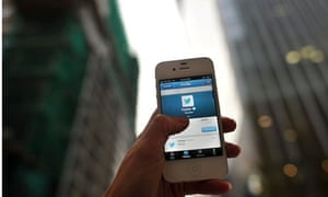 The social media site Twitter on a mobile device