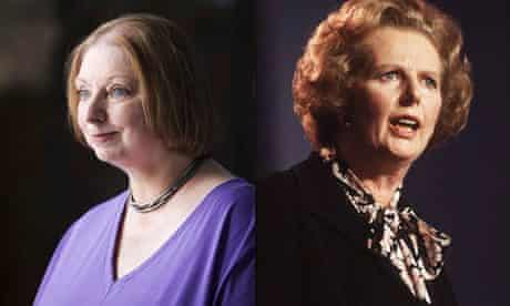 The writer Hilary Mantel (left) and the former prime minister Margaret Thatcher