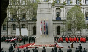 The Cenotaph war memorial in Whitehall, London.