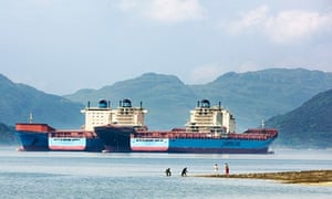 Maersk shipping containers laid up in Argyle