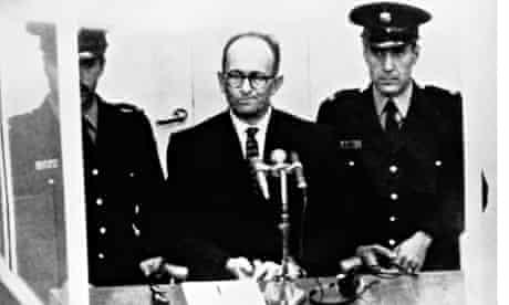Adolf Eichmann on trial, 1961