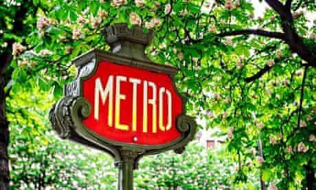His cravat is a knotted métro train … Pascale Petit