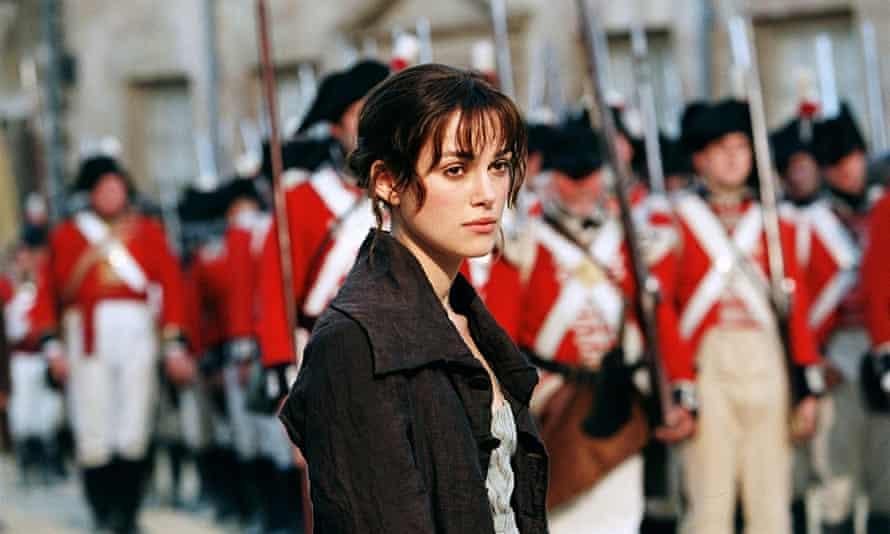 Keira Knightley as Elizabeth Bennet in Pride and Prejudice, from 2005