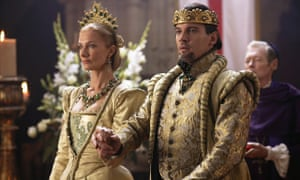 Joely Richardson as Catherine Parr and Jonathan Rhys Meyers as Henry VIII in TV series The Tudors.