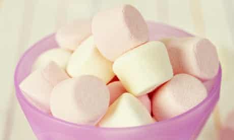 Bowl of marshmallows