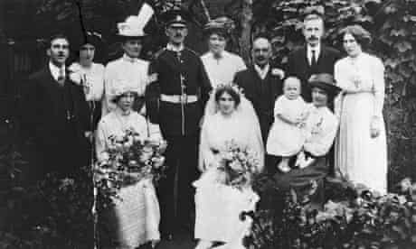 The wedding of Alison Light's Aunt Lottie's wedding, 1916.
