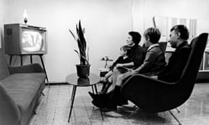 A family watching television. 1966.