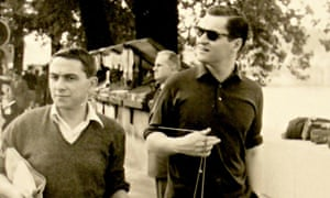 Martory and Ashbery strolling along the Seine in Paris, 1958