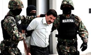Sinaloa drugs cartel leader Joaquin 'El Chapo' Guzman captured, Mexico City, Mexico - 22 Feb 2014