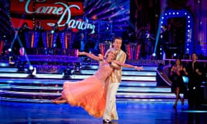 Judy Murray in the Strictly dance-off with her professional partner Anton du Beke.