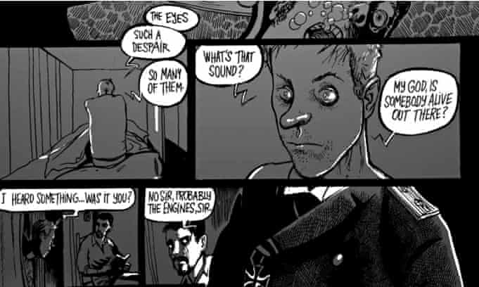 Detail from <em>Dead In The Water</em>, written by Ian Douglas and illustrated by Stjepan Mihaljevic