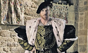 Damian Lewis as Henry VIII in an upcoming BBC adaptation of <em>Wolf Hall</em>.