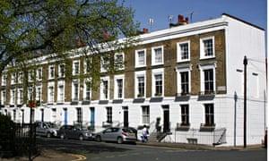 Georgian houses in Islington, north London