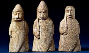 The Lewis Chessmen, berserkers.