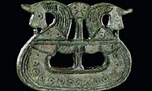 Brooch shaped like a ship, 800-1050