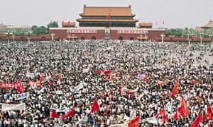 Student Protesters in Tiananmen Square