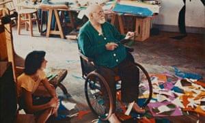 Henri Matisse in his studio in 1952