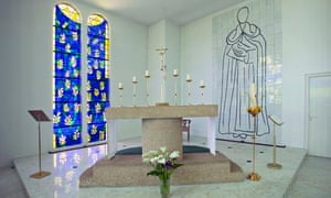 Matisse's stained-glass window at Vence chapel, France