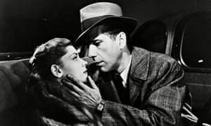 Lauren Bacall and Humphrey Bogart as Marlowe in The Big Sleep from 1946