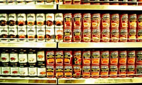 An average-size supermarket could feed a survivor for55 years.