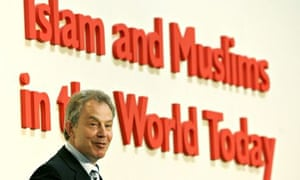 Tony Blair speaks at a conference in London in 2007.