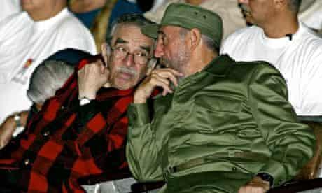 Garcia Marquez with Fidel Castro