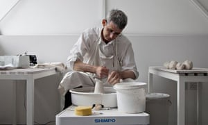 Edmund de Waal in his studio, West Norwood, London, 2013