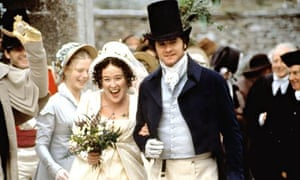 Jennifer Ehle as Elizabeth Bennet and Colin Firth as Mr Darcy in the BBC's 1995 adaptation of Pride