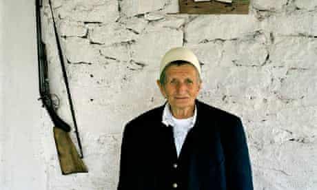 Sworn virgin Sokol Zmajli in Kosovo.