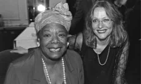 Maya Angelou and Lennie Goodings at Maya's 70th birthday party