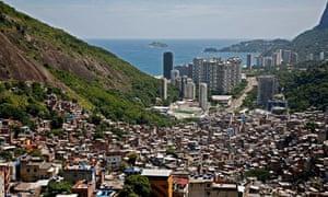 View from the top of Rocinha favela, Rio de Janeiro, Brazil