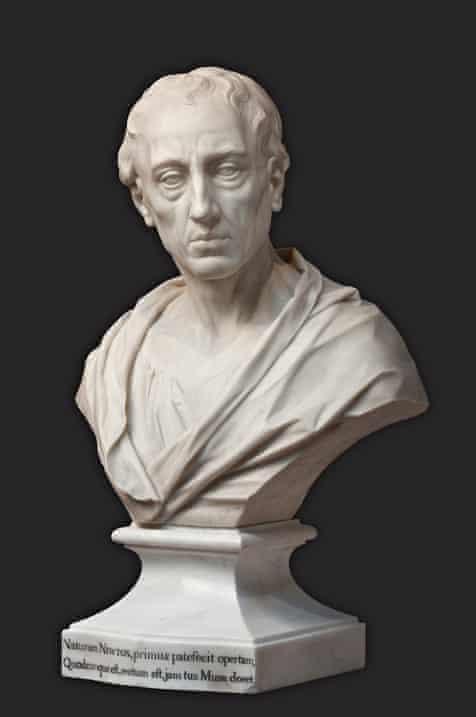 Louis-François Roubiliac's bust of Alexander Pope, c1760.