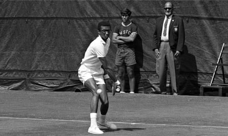 Ashe at the US Open in 1968.