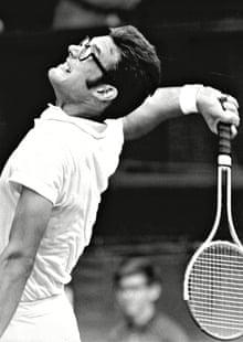 Graebner at Wimbledon in 1969